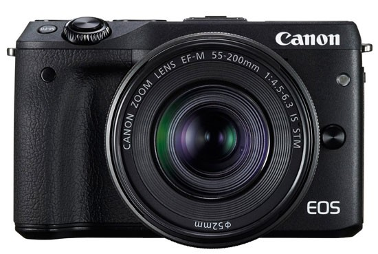Canon EOS M3 Front with Lens