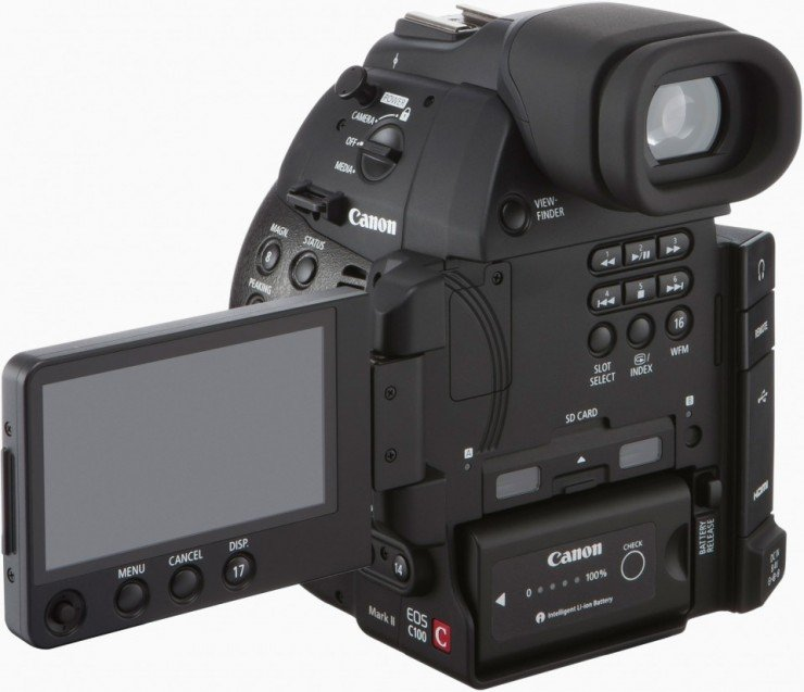 Canon C100 Mark II OLED Screen LCD Out