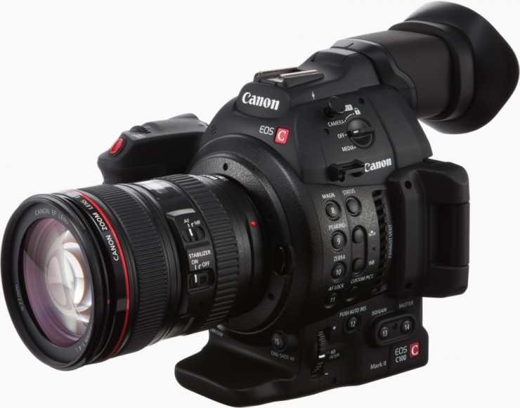 Canon C100 Mark II with Lens 1080p 60fps 50fps