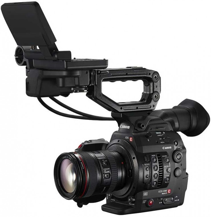 Canon C300 Mark II with LCD