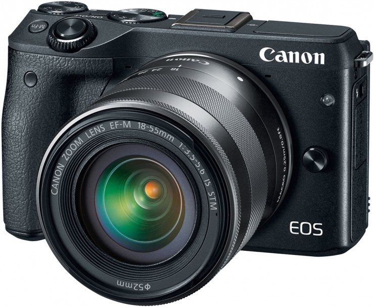 Canon EOS M3 Front Angled