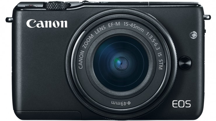 Canon M10 Front with Lens