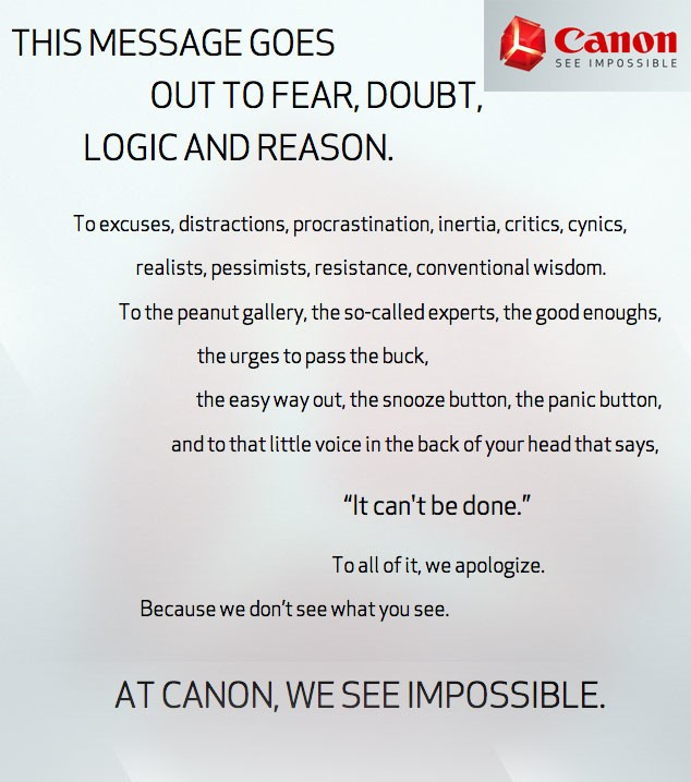 Canon See Impossible Teaser