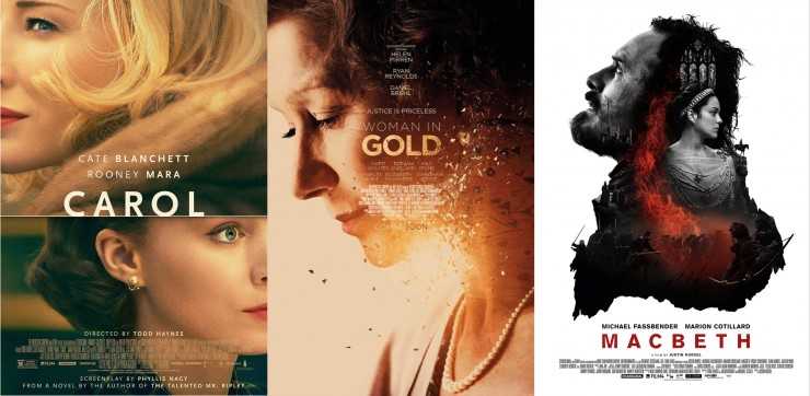 Carol, Woman in Gold, Macbeth Screenplays For Your Consideration