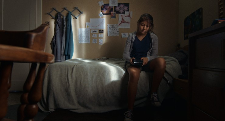 Cents - Sammy in bedroom with phone