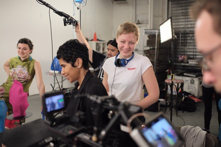 """""""Casting friends saved time in pre-pro but I also think on set,"""" says director Claire Dub. """"There was such a good vibe from the get-go."""" Photo by Myles Austin"""