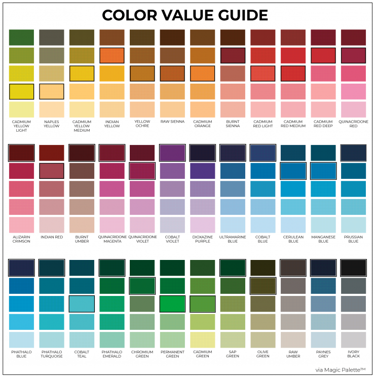 Color Value Guide