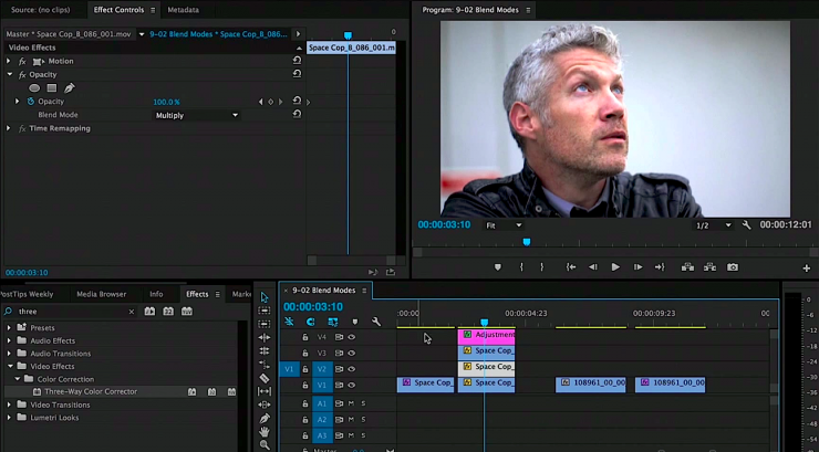 Color Correction with Blend Modes in Premiere Pro CC