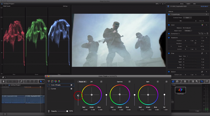 Color Grading in Color Finale for FCPX