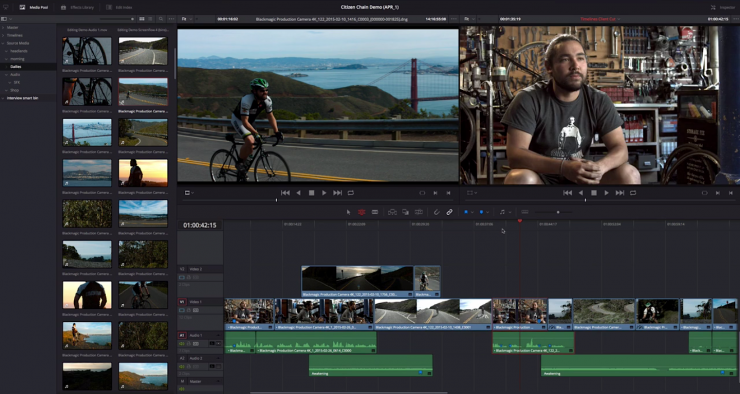 Editing in DaVinci Resolve 12
