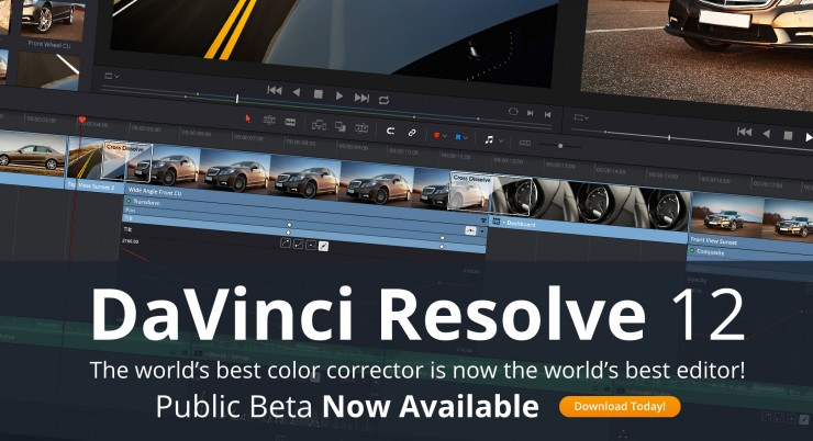 DaVinci Resolve 12 Public Beta Now Available
