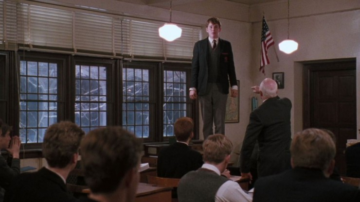 Todd (Ethan Hawke) stands as a salute to Mr. Keating