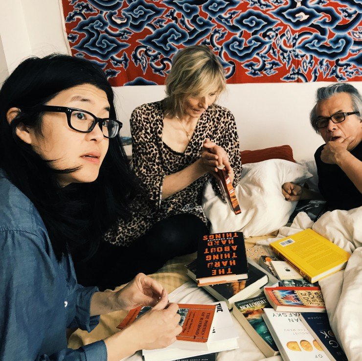 IN BED Director Teresa Loong edited her script to fit her constraints, changing her scene from night to day, and adjusting her choice of book based on what she had available.