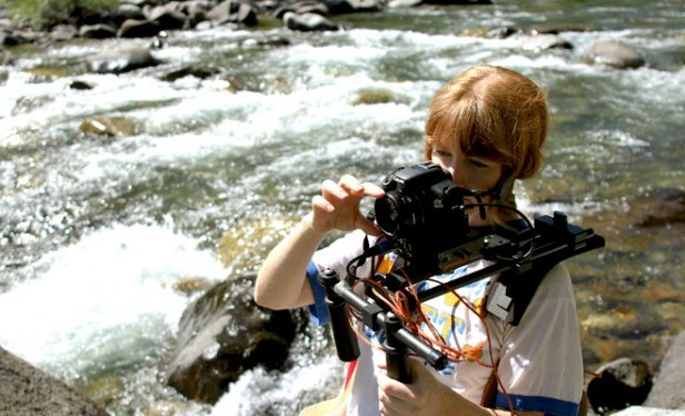 Oakley Anderson-Moore on the set of feature documentary 'Brave New Wild.'