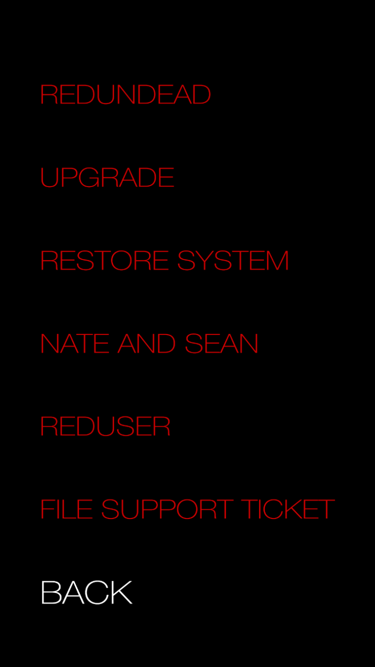 Donna RED Camera Menu Simulator Other Features
