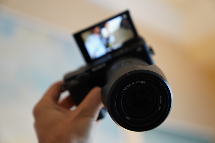 Sony A6400 with 180° Tiltable Touchscreen