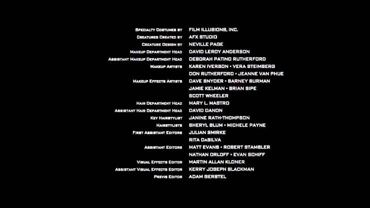 who s who in movie credits what do all those people do anyway