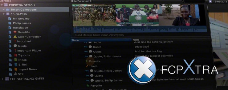 FCPXTRA Plugin for FCPX Metadata Dictation
