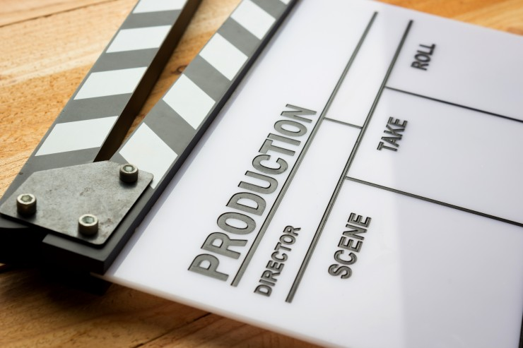 Film Production Sticks Slate