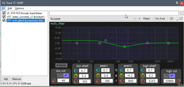 mcfx_filter4 (bread and butter filter/eq which works nicely with most ambisonic tools)