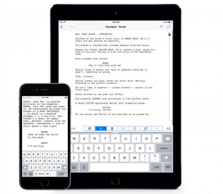 Final Draft Writer Now Available on iPhone