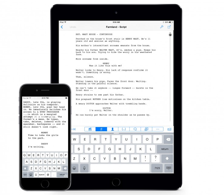 Final Draft Writer Now Available for iPhone as Free Upgrade