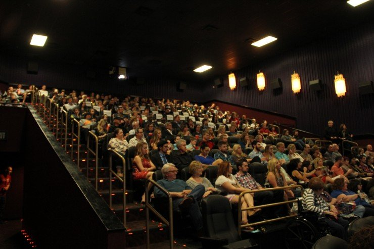Packed Movie Theater for Different Flowers at KC Film Fest
