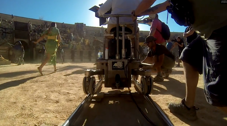 Game of Thrones BTS Dolly Shot Spain
