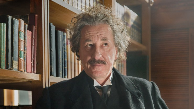 Geoffrey Rush as Albert Einstein in 'Genius'