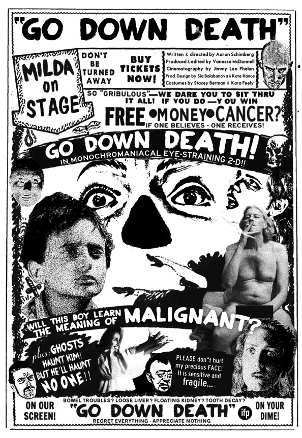 The poster for Go Down Death.