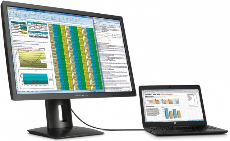 HP Z27q 5K Monitor with Laptop