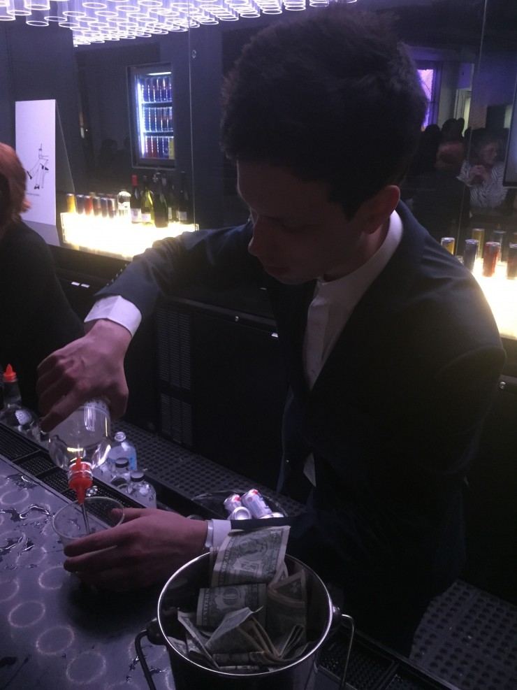 Zachary Treitz Pouring Drinks at his own afterparty