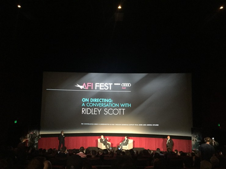 On Directing: Ridley Scott at AFI Fest 2015