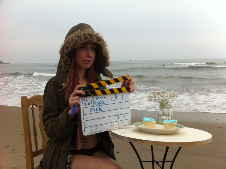 Wendy McColm on the set of EVER (2014)