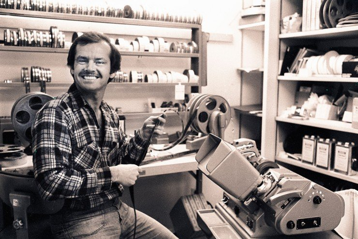 Jack Nicholson movieola editing no film school