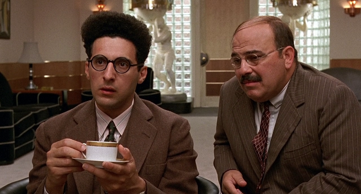 John Turturro and Jon Polito in Barton Fink Meeting