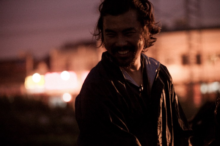 Johnny Ma on the set of his debut feature, <em>Old Stone</em>.