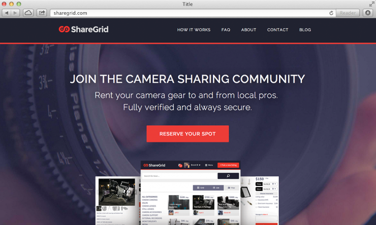 ShareGrid Homepage