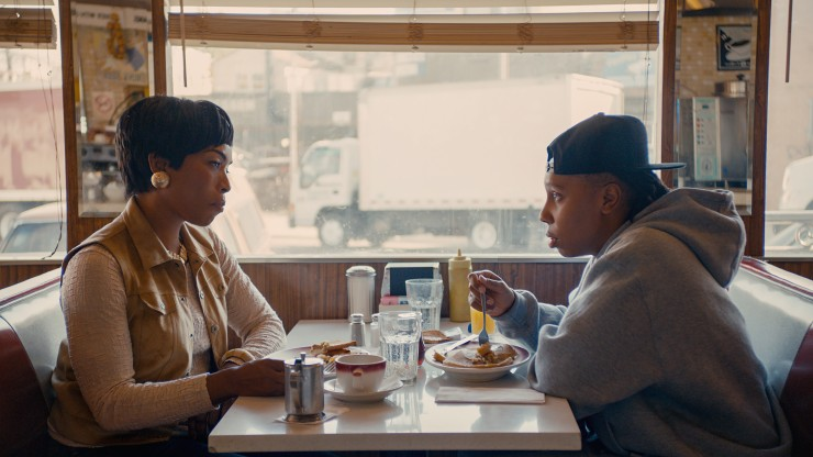Lena Waithe and Angela Basset in Master of None