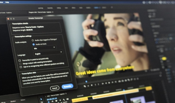 Speech to Text and Native M1 performance on Mac now available in Premiere Pro