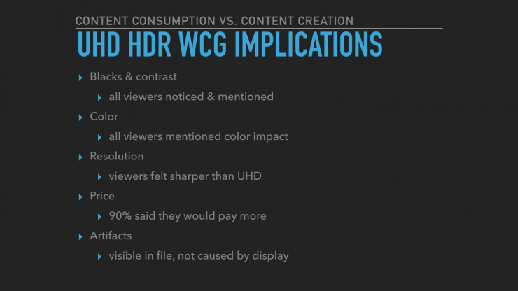 Michael Cioni HPA 2016 Talk UHD HDR WCG Implications