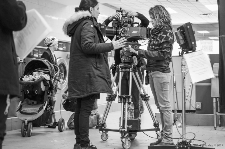 Meg Kettell on set with support from Arri.  Photography by Josh Canizalez.