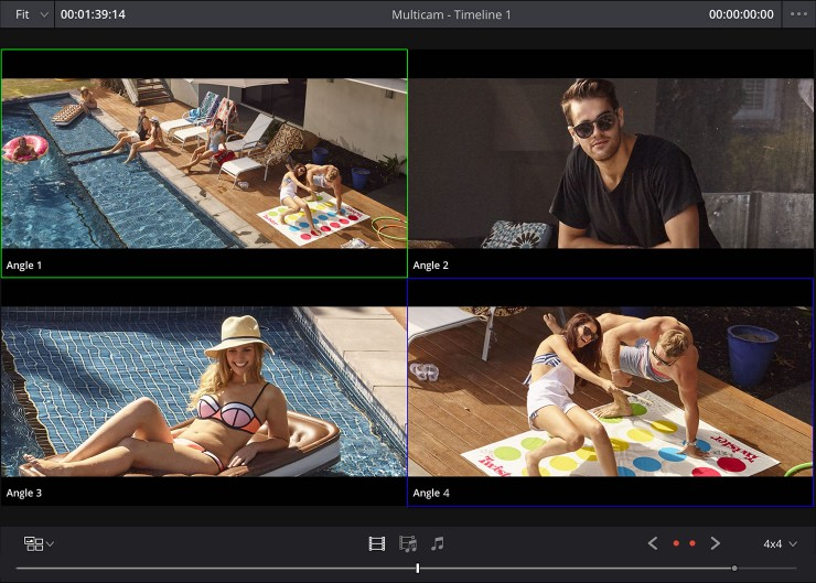 MultiCam Editing in DaVinci Resolve 12.5 at NAB 2016