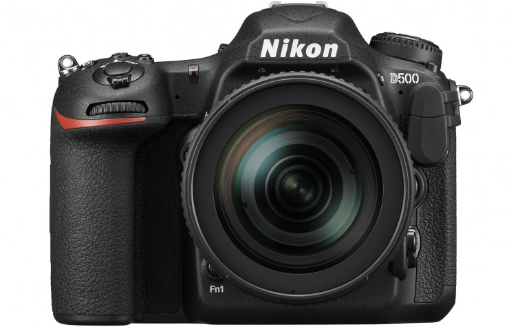 Nikon D500 Front with 16-80mm Lens