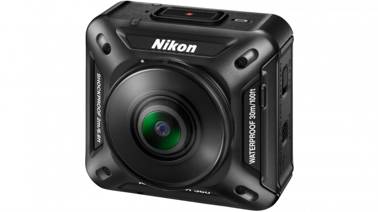 Nikon KeyMission 360 Front Angle with Battery Door