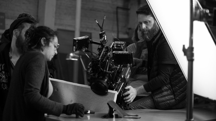 DP Noah Greenberg bringing his knowledge to bear on set.