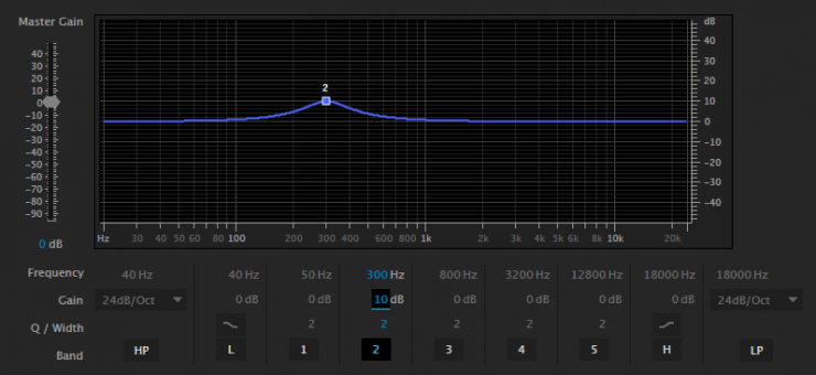 Parametric EQ in Adobe Audition
