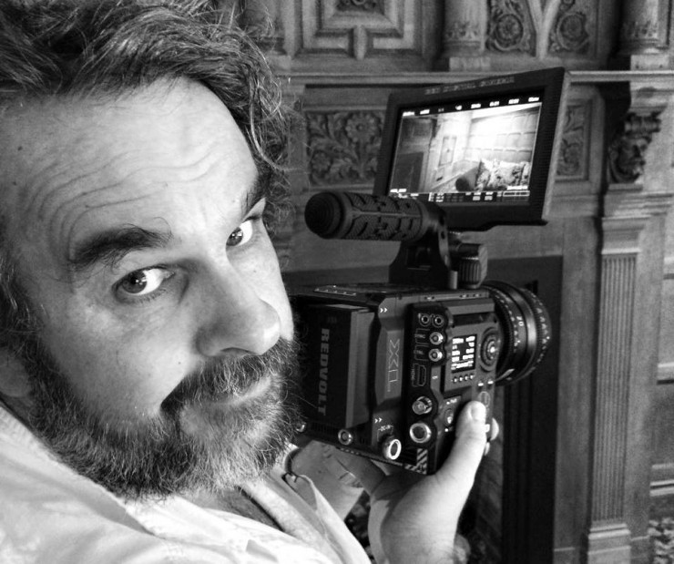 Peter Jackson Holding RED WEAPON Camera