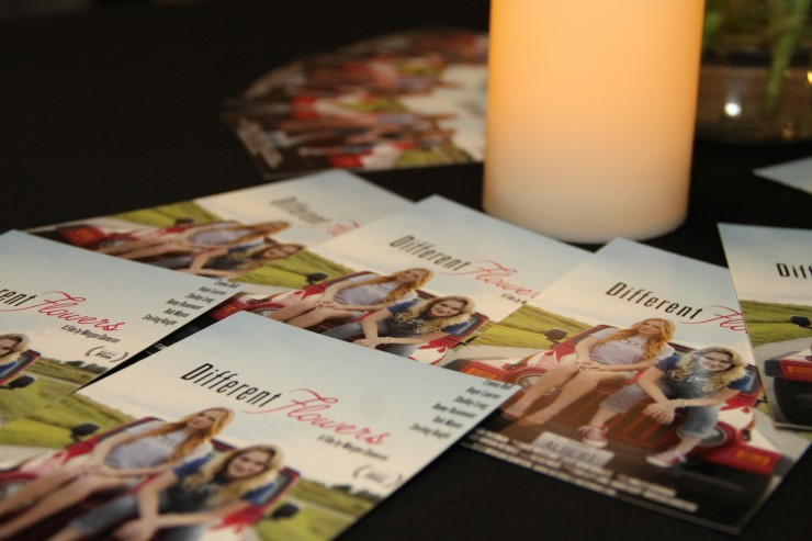 Different Flowers Postcards at the film's red carpet premiere