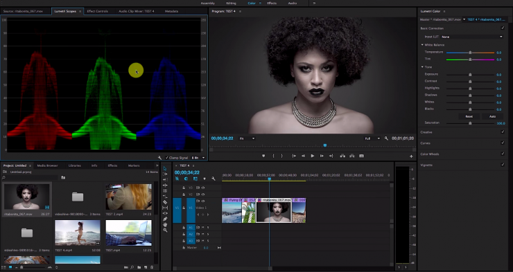 Premiere Pro CC 2015 Lumetri Color Panel